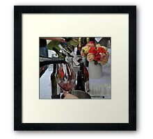 """More Red Wine?""... ""Yes please! "" Framed Print"