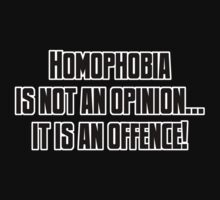 Homophobia... it's an offence! by mancerbear