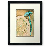 Blue Mushrooms Framed Print