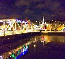 Moonlit night on Merchant´s Quay 002 by David Bolz
