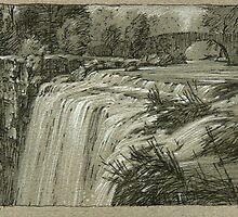 Websters Falls by Guennadi Kalinine