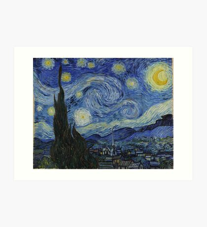 The Starry Night by Vincent van Gogh Art Print