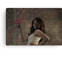 """ Take a Swing Against Breast Cancer "" Canvas Print"