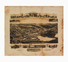 Panoramic Maps Oakdale Massachusetts One Piece - Short Sleeve