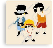 One Piece Brothers Canvas Print