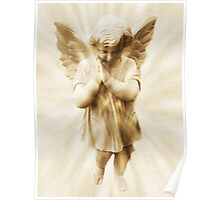 A Little Angel Praying For Children Among All The Nations Poster