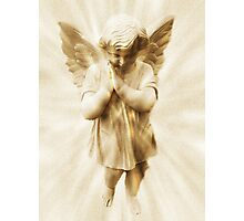 A Little Angel Praying For Children Among All The Nations Photographic Print