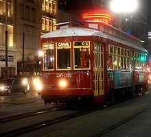 Urban Color Photography - New Orleans Trolley by Fojo