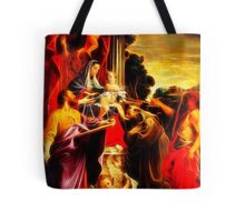 Madonna Enthroned with Saint Matthew Tote Bag