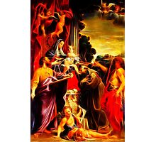 Madonna Enthroned with Saint Matthew Photographic Print