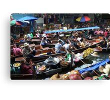 Floating market Canvas Print