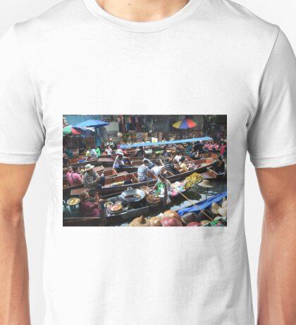Floating market Unisex T-Shirt