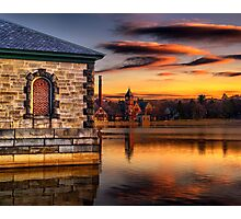 Sunset at Waterworks Museum Photographic Print