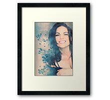 Lana Parrilla #Flowers Framed Print