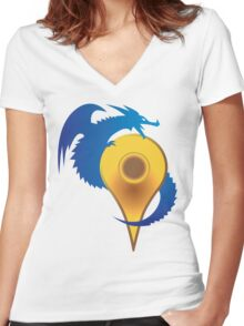 GOOGLE QUEST Women's Fitted V-Neck T-Shirt