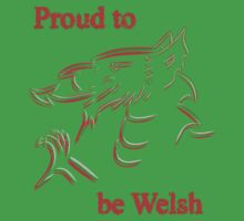 Proud to be Welsh One Piece - Short Sleeve