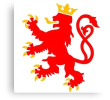 lion luxembourg crown  Canvas Print