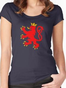lion luxembourg crown  Women's Fitted Scoop T-Shirt