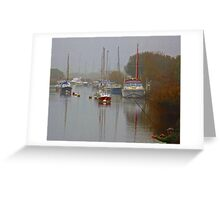 Misty afternoon on the River Frome Greeting Card