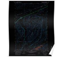USGS Topo Map Washington State WA Karakul Hills 241737 1964 24000 Inverted Poster