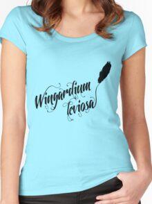 Wingardium leviosa - Harry Potter spells Women's Fitted Scoop T-Shirt