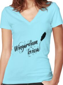 Wingardium leviosa - Harry Potter spells Women's Fitted V-Neck T-Shirt