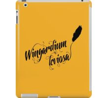 Wingardium leviosa - Harry Potter spells iPad Case/Skin