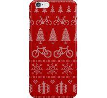 Christmas Cycling Jumper | Red iPhone Case/Skin