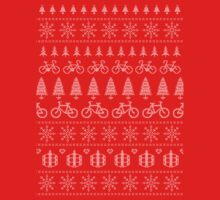 Christmas Cycling Jumper | Red One Piece - Short Sleeve