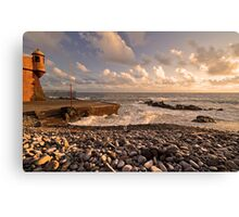 Seaside at sunset. Canvas Print