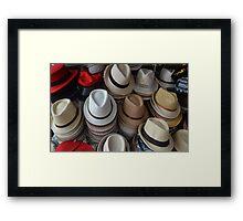 Men's hats Framed Print