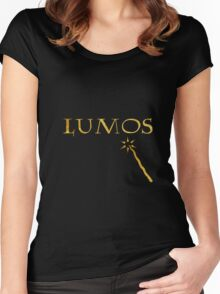 Lumos - Harry Potter's spells Women's Fitted Scoop T-Shirt