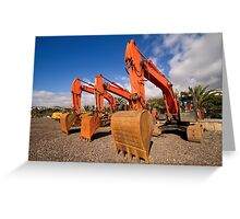 Excavators. Greeting Card