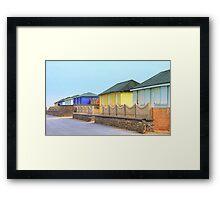 Beach Huts at Fleetwood Framed Print