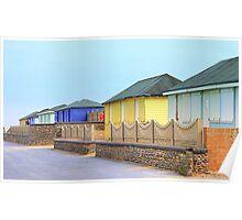 Beach Huts at Fleetwood Poster