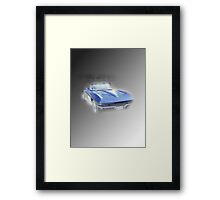 Blue Vette Framed Print