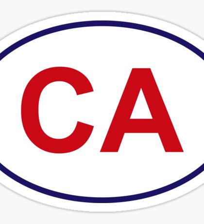 California State Sticker Sticker