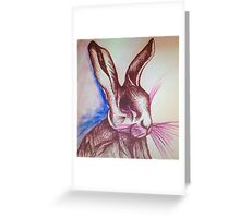 Mad Hare Greeting Card