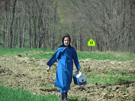 Amish Girl Coming in From the Fields by Nevermind the Camera Photography