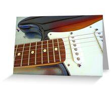 Fender curves Greeting Card