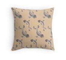 Sumi Ink Coy Fish Throw Pillow