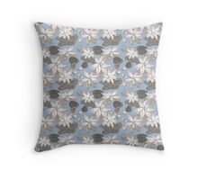 Sumi Ink Lotus Flower Throw Pillow