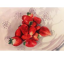 Summer Strawberries Photographic Print