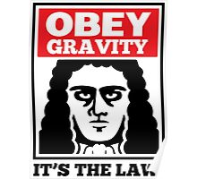 Obey The Gravity Its The Law Poster