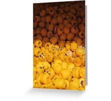 Lego Heads Greeting Card
