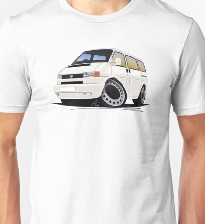 VW T4 White Unisex T-Shirt