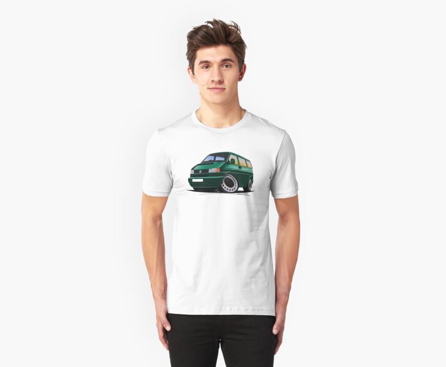 VW T4 Dark Green by Richard Yeomans