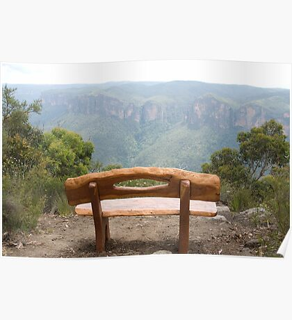The Viewing Seat, Anvil Rock, Blue Mountains, NSW Poster
