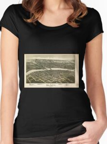 Panoramic Maps Oil City Pennsylvania 1896 Women's Fitted Scoop T-Shirt