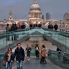 St Paul's and the Millennium Bridge by AJM Photography